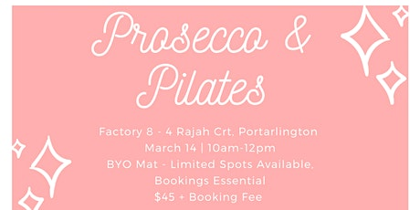 Prosecco & Pilates tickets