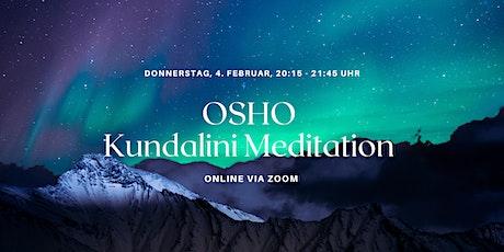 Aktiv-Meditationsabend mit OSHO Kundalini  Meditation (online) Tickets