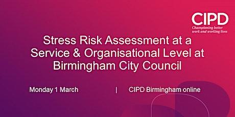 Stress Risk Assessment at a Service  & Organisational Level tickets