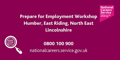 Preparation for Employment Workshop - Humber, East Riding, NE Lincolnshire tickets