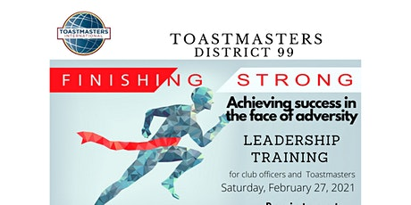 Toastmasters D99 Online Contest & Club Leadership Training (27-02-2021) tickets