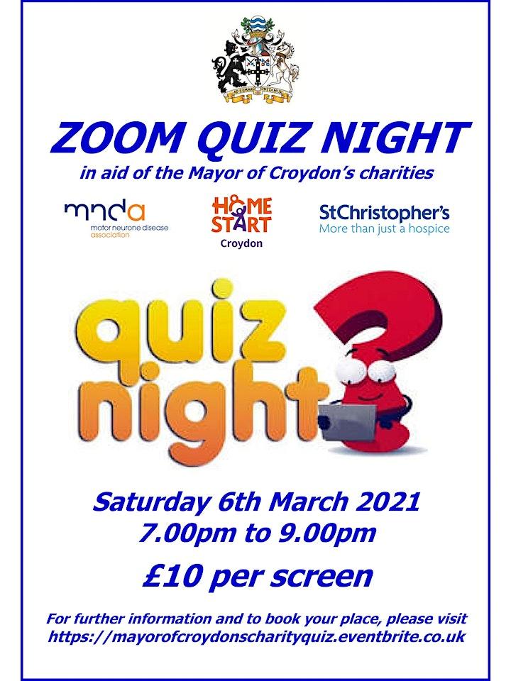 Mayor of Croydon's Charity Quiz Night image