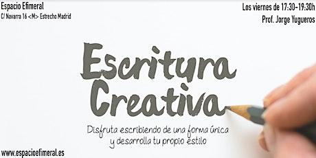 Curso de escritura creativa en Espacio Efimeral tickets