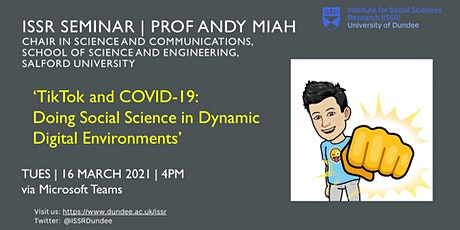 ISSR Seminar | TikTok and COVID-19 tickets