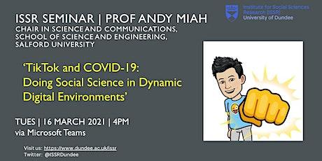 ISSR Seminar | TikTok and COVID-19 tickets