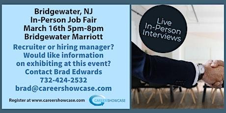 Bridgewater, NJ  Job Fair In Person tickets