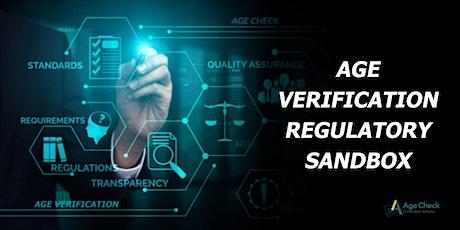 Age Verification Regulatory Sandbox - Guidance for Applicants for Trials tickets