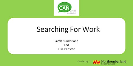 Employability Webinar 2- Searching for Work tickets