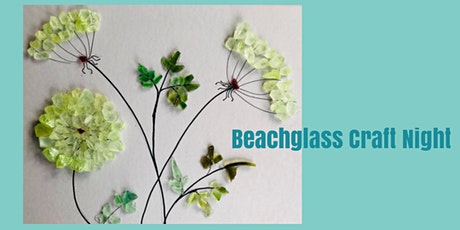 Beach Glass Collage Night with supplies and frame. tickets