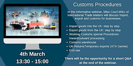 Customs Procedures tickets
