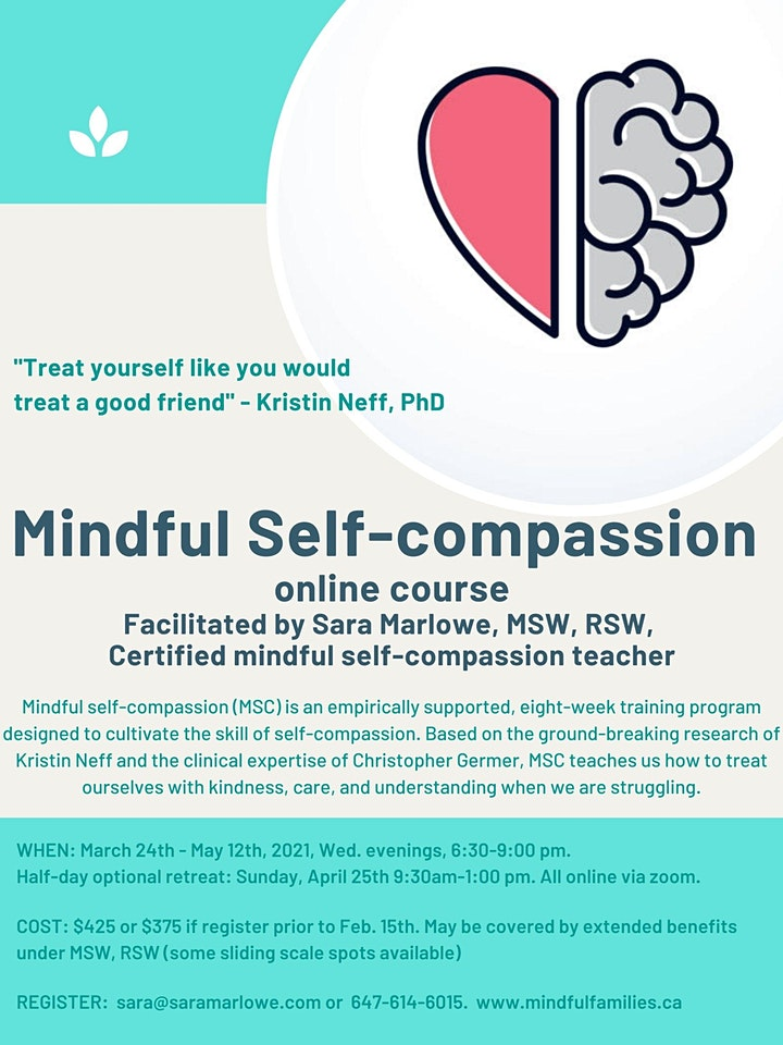 Mindful Self-compassion Course ONLINE image