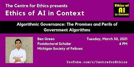 Ben Green, Algorithmic Governance tickets