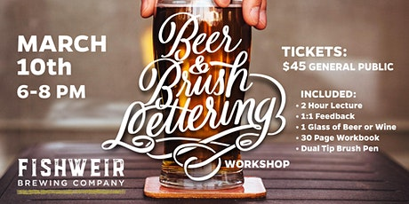 Beer and Lettering Workshop tickets