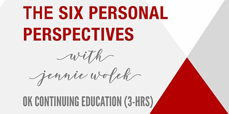 The Six Personal Perspectives (3 Hours of Oklahoma CE) entradas