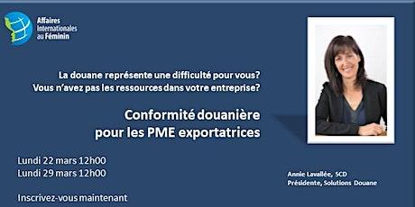CONFORMITÉ DOUANIÈRE  POUR LES PME EXPORTATRICES billets