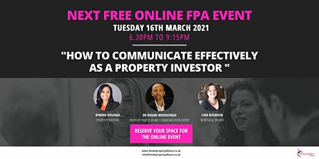 "How to communicate effectively as a property investor "" tickets"