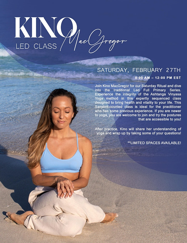 Led Full Primary, Conference and Q&A with Kino MacGregor - February 27th image