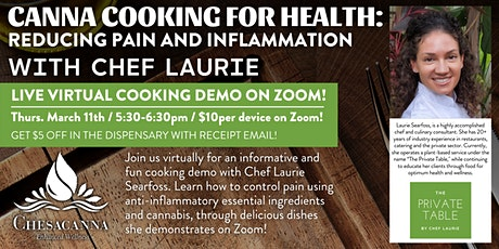 Virtual Canna Cooking for Health: Cooking for Pain and Inflammation tickets