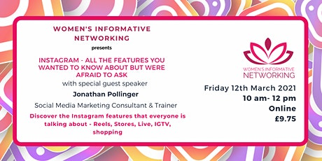 INSTAGRAM - the features you wanted to know about but were afraid to ask! tickets