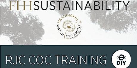 Réussir la certification RJC CoC - formation payante sur zoom billets