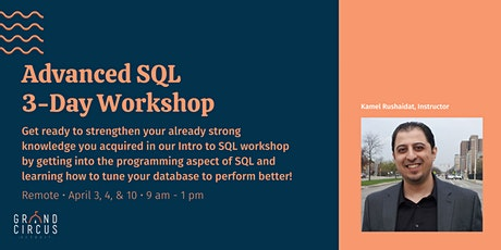 Advanced SQL 3-Day Workshop tickets