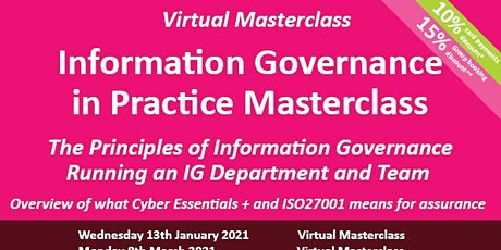 Information Governance in Practice Masterclass tickets
