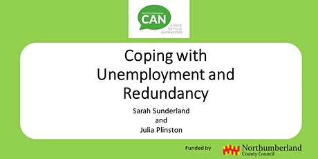 Employability Webinar 1 - Coping with Unemployment and Redundancy tickets