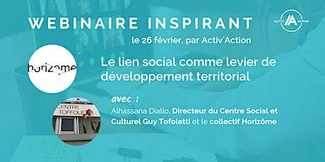 Webinaire |  Le lien social comme levier de développement territorial billets