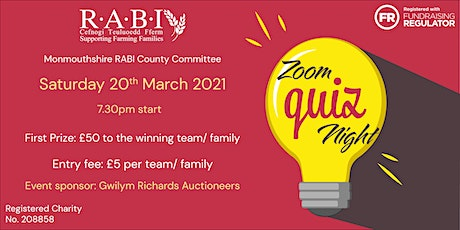 Monmouthshire RABI County Committee Virtual Quiz Night tickets