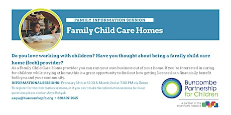 Online: Family Child Care Homes: Information Session tickets