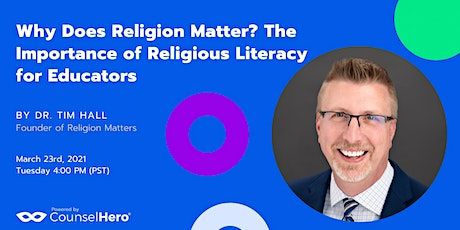 Why Does Religion Matter? The Importance of Religious Literacy for Educator tickets