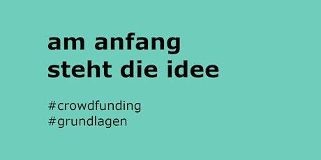 Crowdfunding Akademie: Die richtige Planung Tickets