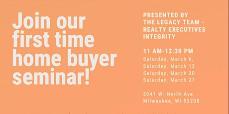 The Legacy Team Homebuyer Seminar tickets