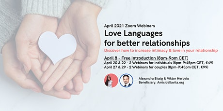 Love Languages for better relationships ( April 27 & 29 for couples) tickets