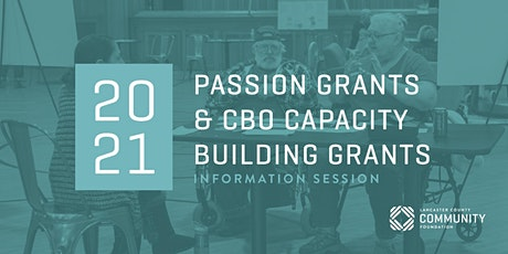 2021 Passion Grants and CBO Capacity Building Information Session tickets