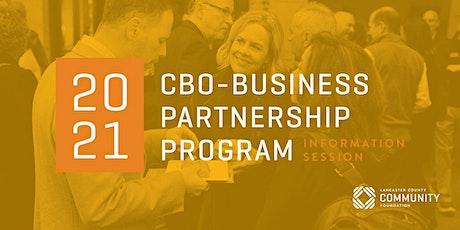 2021 CBO - Business Partnership Program Information Session tickets