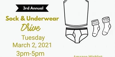 3rd Annual Sock and Underwear Drive tickets