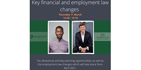 Key Financial and Employment Law Changes tickets