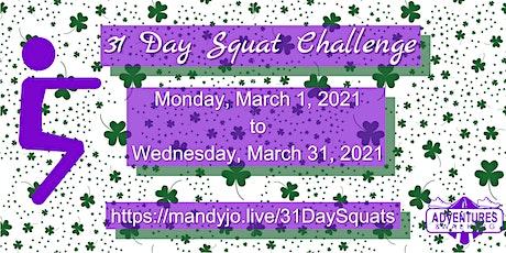 31 Day Squat Challenge tickets