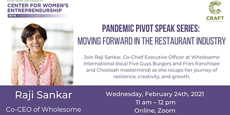 Pandemic Pivot Speaker Series: Moving Forward in the Restaurant Industry tickets
