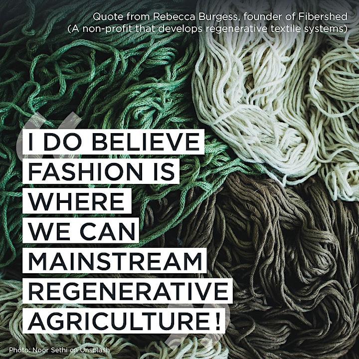 Regenerative Fashion – Panel Discussion w/ Patagonia, Fibershed & Trace Co. image