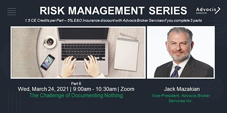 Advocis Kingston: Risk Management Video 6, with Jack Mazakian tickets