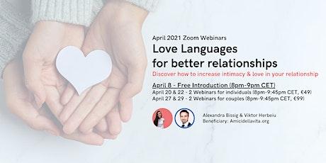 Love Languages for better relationships ( April 8 Free workshop) tickets