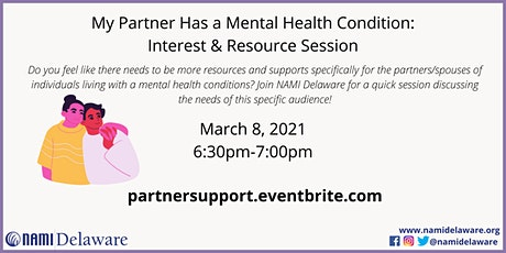 My Partner Has A Mental Health Condition: Interest & Resource Session tickets