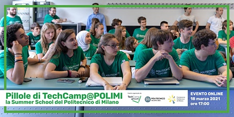 Pillole di TechCamp@POLIMI, la Summer School del Politecnico di Milano tickets