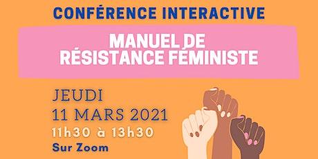 Conférence interactive - Manuel de résistance féministe billets