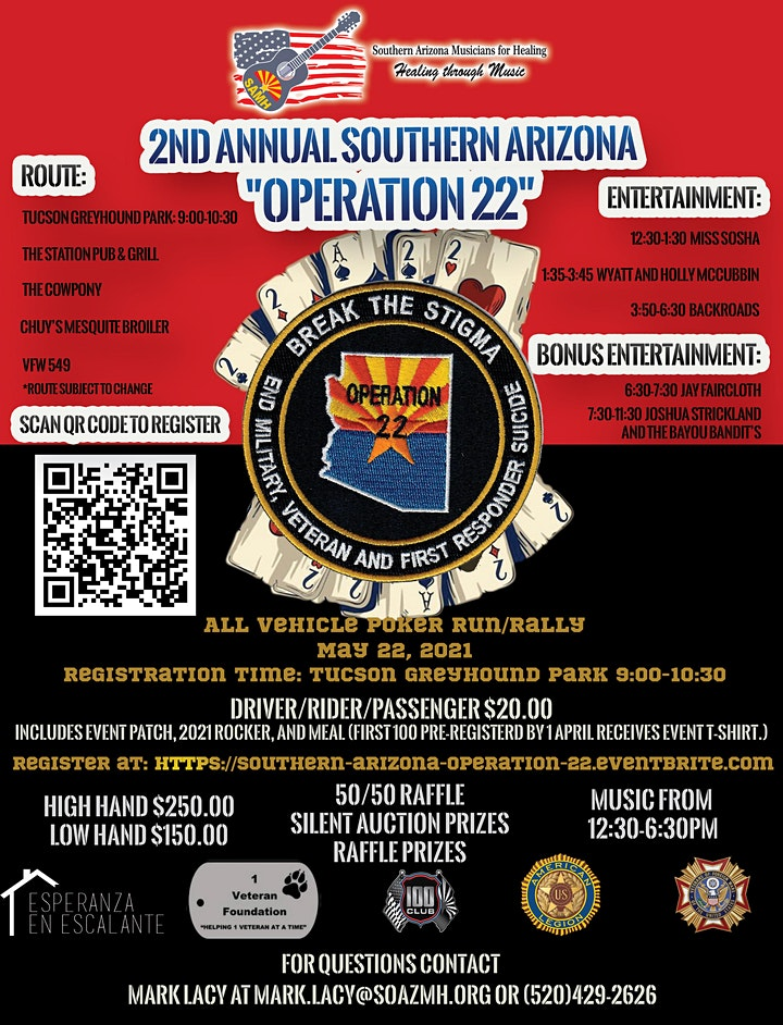 Southern Arizona Operation 22 Break The Stigma Poker Run/Rally image
