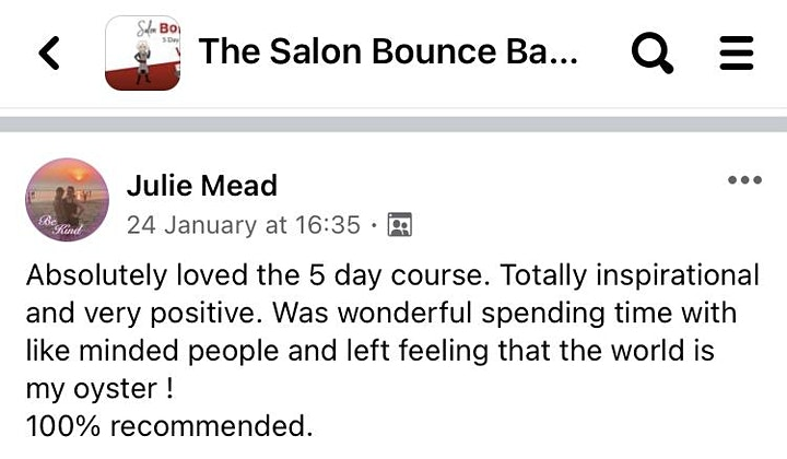 The Salon Bounce Back 5 Day Challenge image