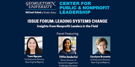Issue Forum: Leading Systems Change tickets