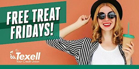 Free Treat Fridays at Texell's Cedar Park Branch! boletos
